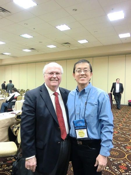 johnny-lee-with-Dr. Wright Damon - President of the National Guild of Hypnotists